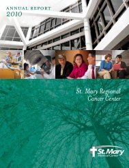 2010 Cancer Center Annual Report.pdf - St. Mary Medical Center