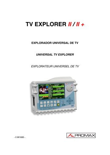 TV Explorer II / II+ User manual - Ottawa Ku Satellites