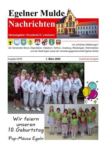Egelner Nachrichten März 2009 - Druckerei Lohmann