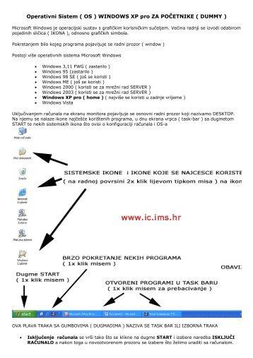 WINDOWS XP pro ZA POČETNIKE ( DUMMY )