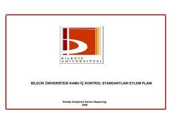 Üniversitemiz Kamu İç Kontrol Standartları ... - Strateji Geliştirme