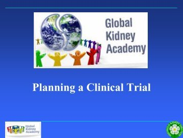 Planning a Clinical Trial