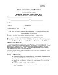 Hilliard Recreation and Parks Department - City of Hilliard