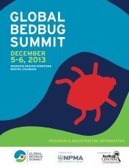GLOBAL BEDBUG SUMMIT - National Pest Management Association