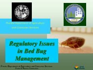 Regulatory Issues in Bed Bug Management
