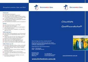 Checkliste Gastfreundschaft - Kirchenkreis Unna