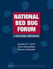 A SOLUTIONS CONFERENCE - National Pest Management ...