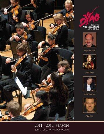 2011 - 2012 Season - Denver Young Artists Orchestra