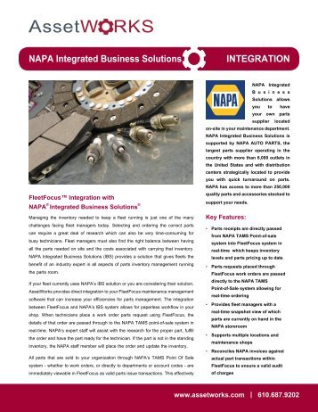 NAPA Integrated Business Solutions INTEGRATION - AssetWorks
