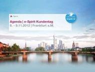 Agenda | e-Spirit Kundentag 8. - 9.11.2012 | Frankfurt ... - e-Spirit AG