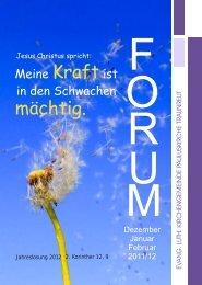 Forum Ausgabe 2011/4 Oktober - Evangelisch in Traunreut