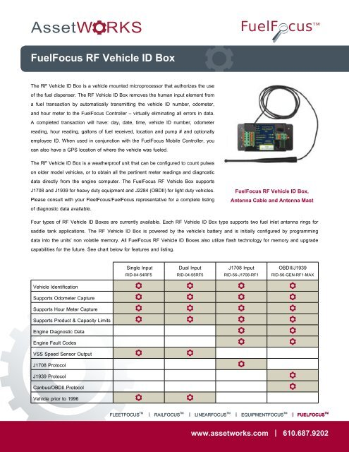 Fuelfocus Rf Vehicle Id Box Assetworks