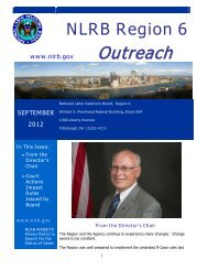 Outreach - National Labor Relations Board