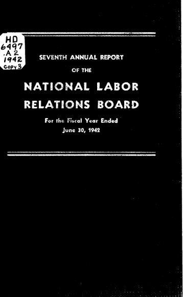 1942 - National Labor Relations Board