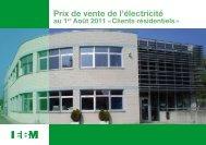 Tarifs « bleu » clients residentiels - EBM France