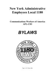 ARTICLEI - NAME - CWA Local 1180