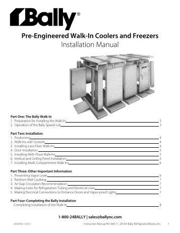 ballyrefboxes com magazineswalk in installation manual bally refrigerated boxes, inc