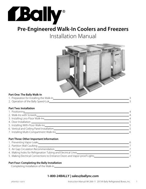walk in installation manual bally refrigerated boxes, incBally Walk In Freezer Wiring Diagram #10