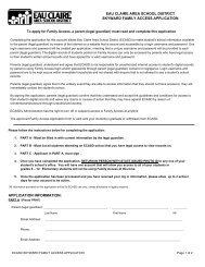 Skyward Family Access Application - Eau Claire Area School District