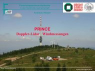 Doppler-Lidar Windmessungen - IMK-TRO