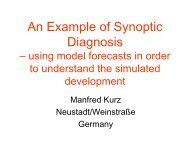 An Example of Synoptic Diagnosis – using model ... - IMK-TRO