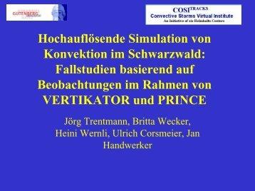Hochauflösende Simulation von Konvektion im ... - IMK-TRO