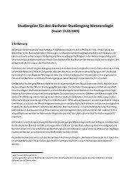 Studienplan Bachelor Meteorologie (Stand: 14 ... - IMK-TRO - KIT