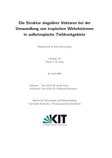 Die Struktur singulärer Vektoren bei der Umwandlung ... - IMK-TRO