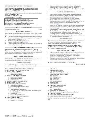 Pharmacy Bulk Package - Bayer HealthCare
