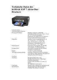 Technische Daten des KODAK ESP 7 All-in-One- Druckers