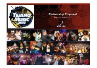 Partnership Proposal - Tejano Music National Convention