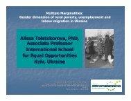 Alissa Tolstokorova, PhD, Associate Professor International School ...