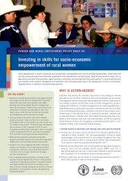 investing in skills for socio-economic empowerment of rural women