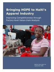 Bringing HOPE to Haiti's Apparel Industry - Nathan Associates