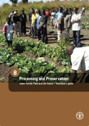 Processing and Preservation - Food, Agriculture & Decent Work