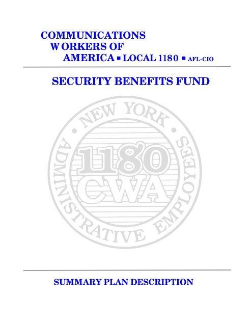 SBF Summary Plan Handbook - CWA Local 1180