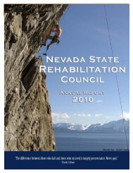 2010 Annual Report - Nevada Department of Employment, Training ...