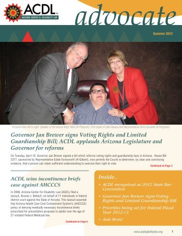 Inside... - Arizona Center for Disability Law