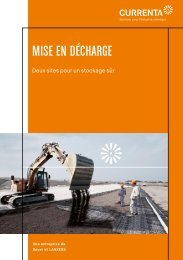 MISE EN DÉCHARGE - Currenta