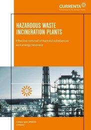HAZARDOUS WASTE INCINERATION PLANTS - Currenta