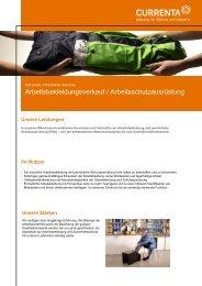 Arbeitsbekleidungsverkauf / Arbeitsschutzausrüstung - Currenta