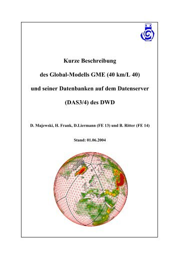 Kurze Beschreibung des Global-Modells GME (40 km/L ... - IMK-TRO