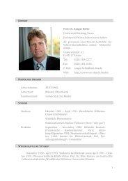 Lebenslauf (lang) - Lehrstuhl für Volkswirtschaftslehre, insb ...