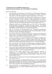 Vorträge auf wissenschaftlichen Konferenzen - Universität Duisburg ...