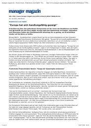 manager-magazin.de - Druckversion - Reaktionen zum Gipfel ...