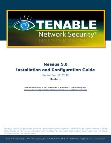 Nessus 5.0 Installation and Configuration Guide - Tenable Network