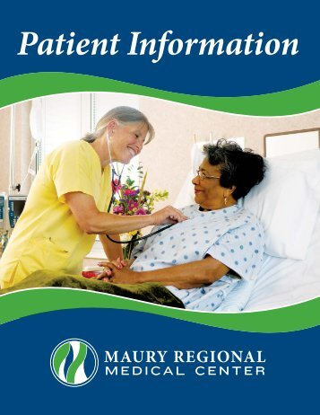 Patient Information Booklet WEB.indd - Maury Regional Healthcare ...