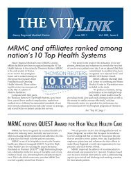 VitaLink June11.indd - Maury Regional Healthcare System