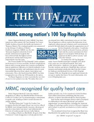 VitaLink February13.indd - Maury Regional Healthcare System