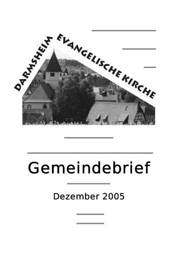 Konfirmation 21. Mai 2006 - Evangelische Kirchengemeinde ...